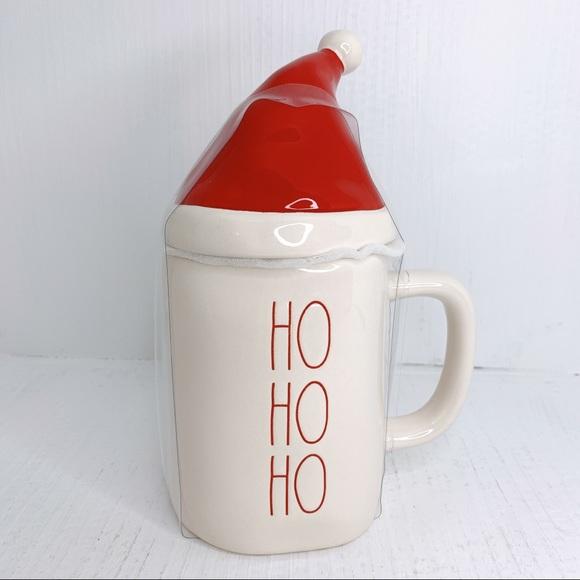 🛍SOLD🛍Christmas mug HO HO HO with Santa hat